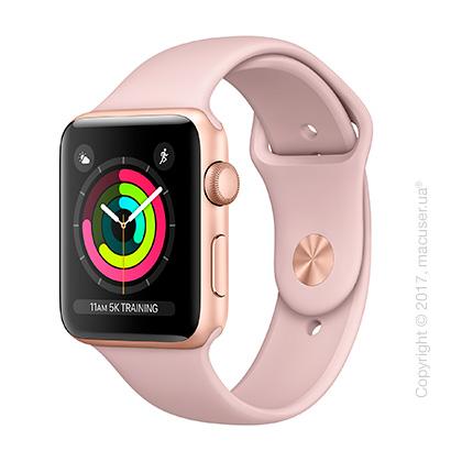 Apple Watch Series 3 GPS 42mm Gold Aluminum Case со спортивным ремешком цвета