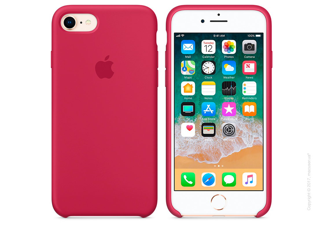 Чехол Apple iPhone 8/7 Silicone Case, Rose Red