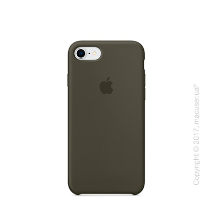 Чехол Apple iPhone 7/8 Silicone Case, Dark Olive