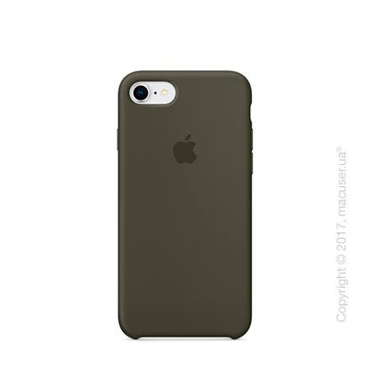 Чехол Apple iPhone 8/7 Silicone Case, Dark Olive