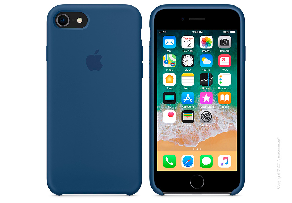 Чехол Apple iPhone 8/7 Silicone Case, Blue Cobalt