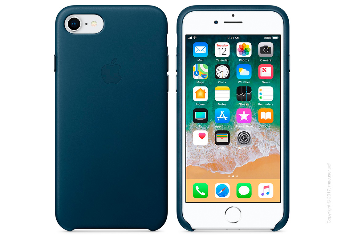 Чехол Apple iPhone 8/7 Leather Case, Cosmos Blue