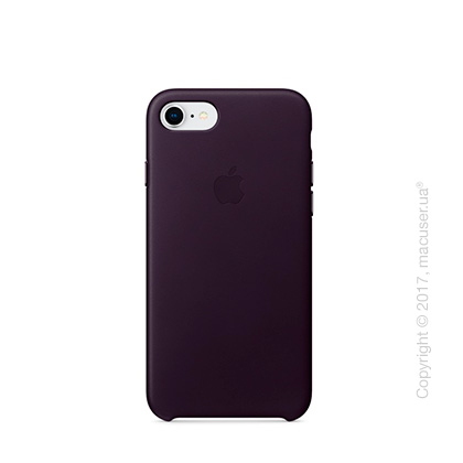 Чехол Apple iPhone 7/8 Leather Case, Dark Aubergine