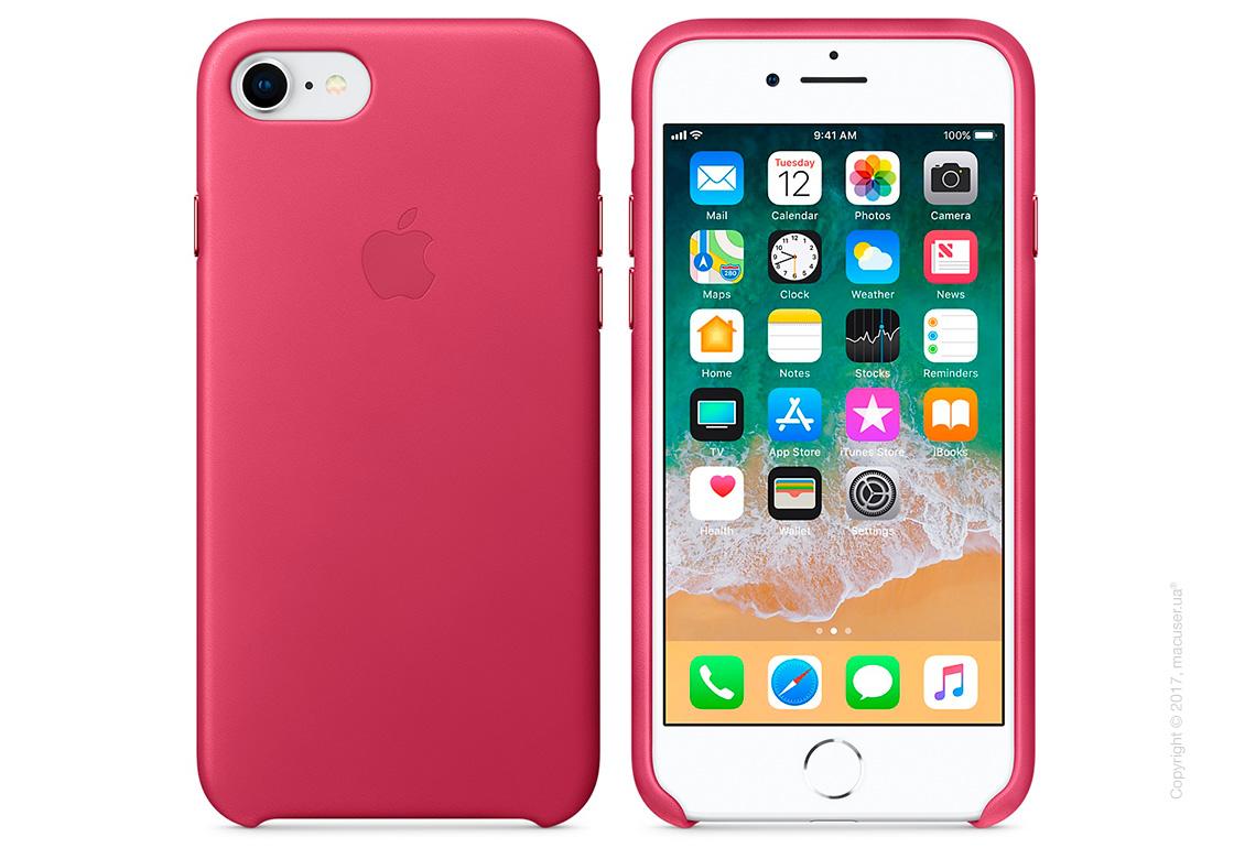 Чехол Apple iPhone 7/8 Leather Case, Pink Fuchsia