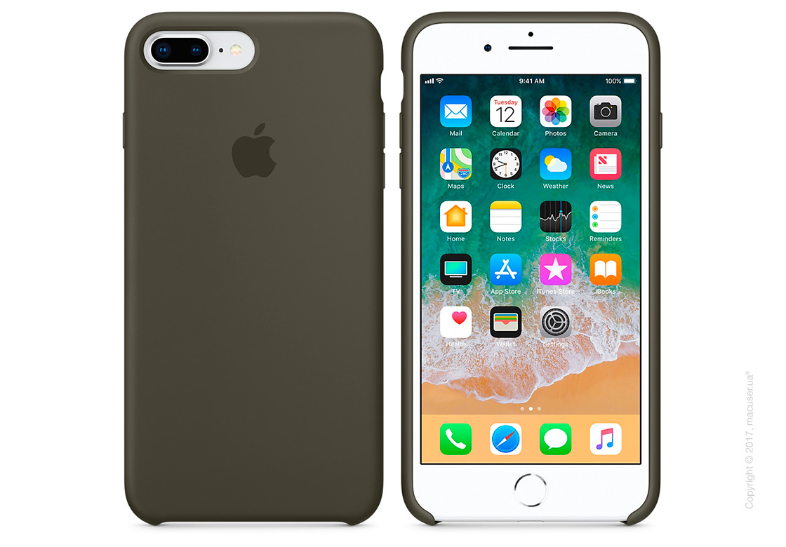 Чехол Apple iPhone 7 Plus/8 Plus Silicone Case, Dark Olive