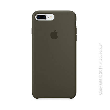 Чехол Apple iPhone 8 Plus/7 Plus Silicone Case, Dark Olive