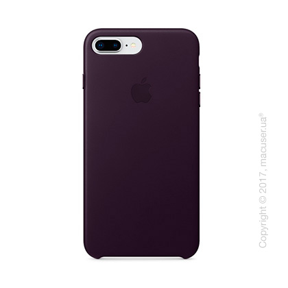 Чехол Apple iPhone 8 Plus/7 Plus  Leather Case, Dark Aubergine
