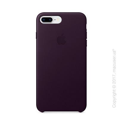 Чехол Apple iPhone 8 Plus/7 Plus  Leather Case, Dark Aubergine