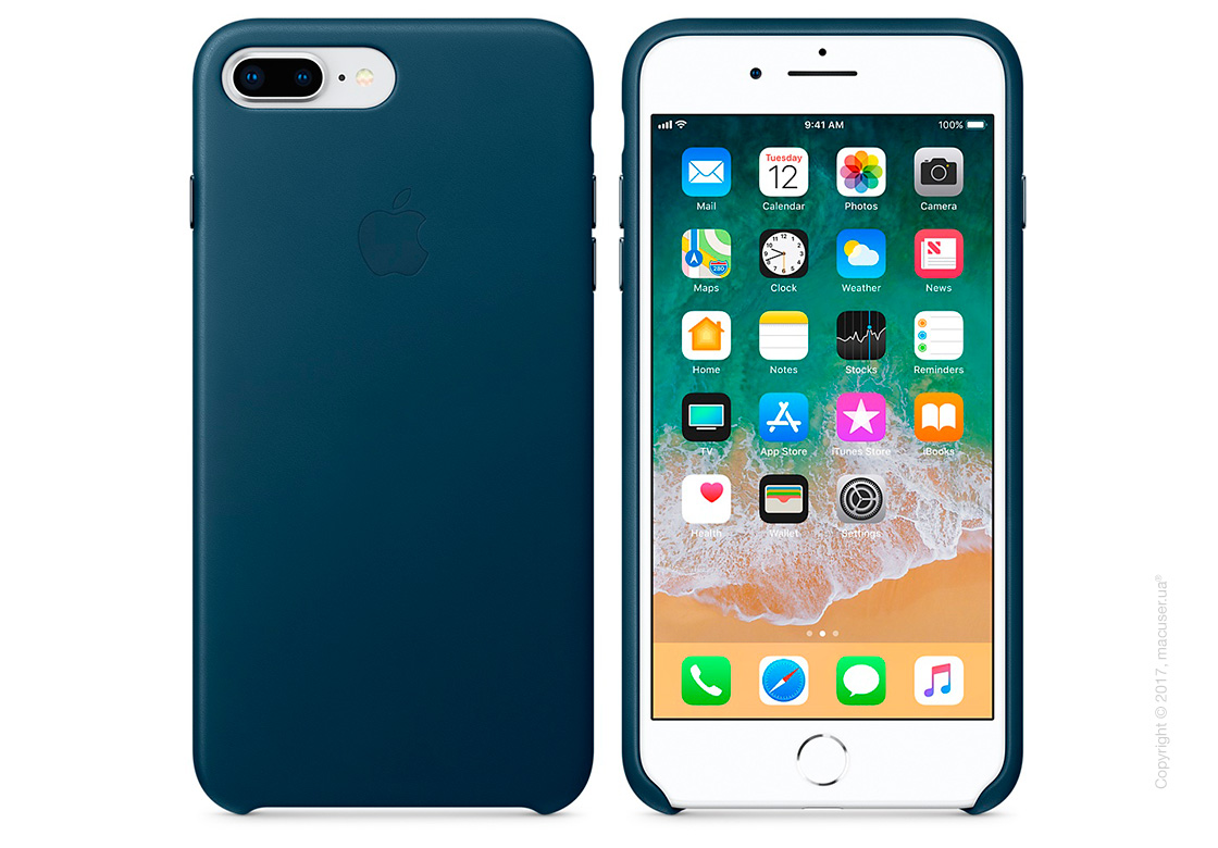 Чехол Apple iPhone 8 Plus/7 Plus  Leather Case, Cosmos Blue