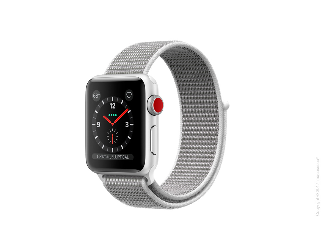 Apple Watch Series 3 GPS + Cellular 38mm Silver Aluminum Case со спортивным браслетом цвета