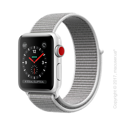 Apple Watch Series 3 GPS + Cellular 38mm Silver Aluminum Case со спортивным браслетом цвета