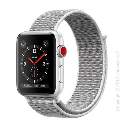 Apple Watch Series 3 GPS + Cellular 42mm Silver Aluminum Case со спортивным браслетом цвета