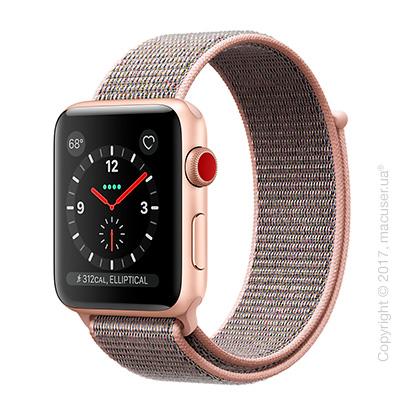 Apple Watch Series 3 GPS + Cellular 38mm Gold Aluminum Case со спортивным браслетом цвета