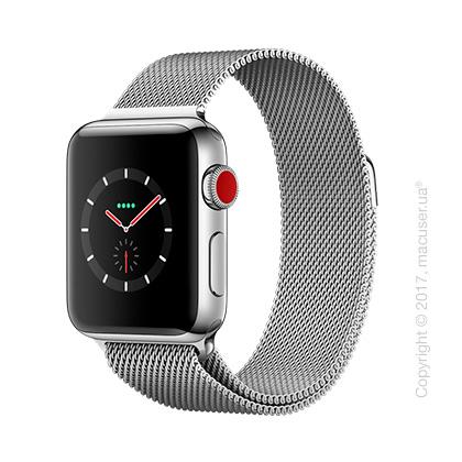 Apple Watch Series 3 GPS + Stainless 38mm Stainless Steel Case с миланским сетчатым браслетом