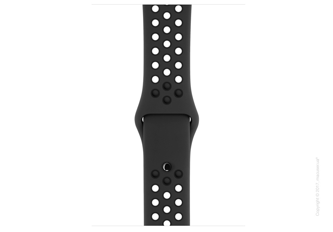 Apple Watch Series 3 GPS + Cellular 42mm Space Gray Aluminum Case со спортивным ремешком Nike цвета «антрацитовый/чёрный»