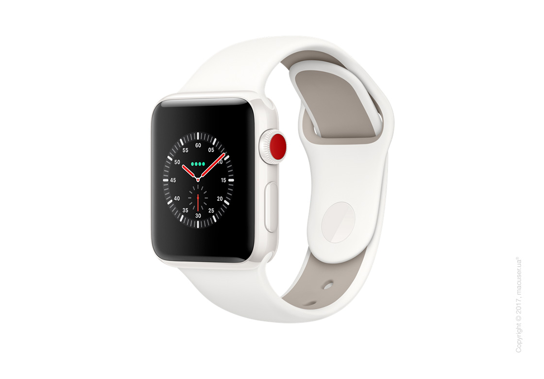 Apple Watch Edition Series 3 GPS + Cellular 42mm Ceramic Case со спортивным ремешком цвета