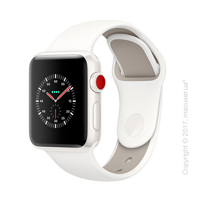 Apple Watch Edition Series 3 GPS + Cellular 38mm Ceramic Case со спортивным ремешком цвета