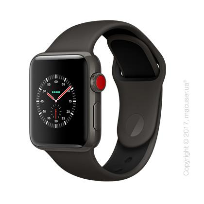 Apple Watch Edition Series 3 GPS + Cellular 38mm Gray Ceramic Case с серым/чёрным спортивным ремешком