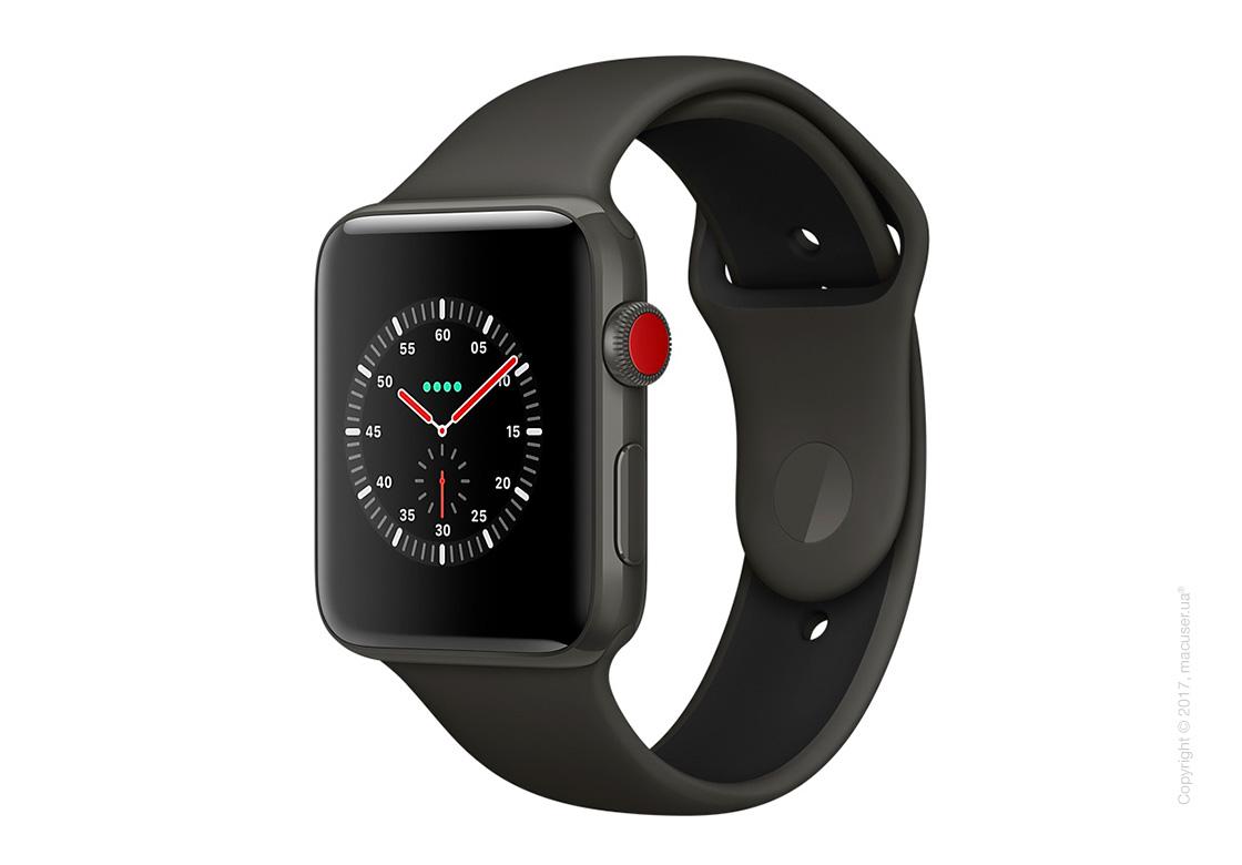 Apple Watch Edition Series 3 GPS + Cellular 42mm Ceramic Case со спортивным ремешком цвета