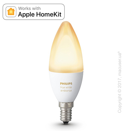 Умная лампа PHILIPS Hue 6W E14 White Ambiance