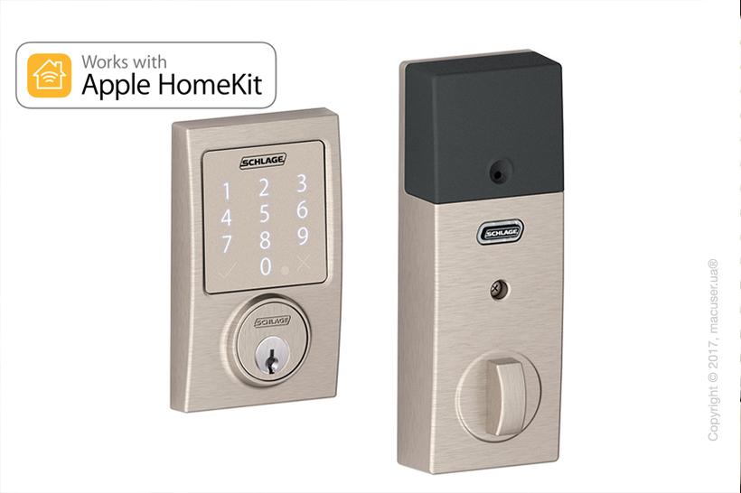 Замок Schlage Sense Smart Deadbolt (BE479 V CEN 619) Apple HomeKit