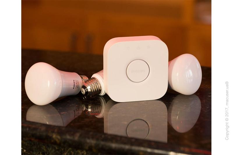 Лампа Philips Hue LED Lampe 10 W A60 E27 Starter Set Bridge 2.0. 3 set