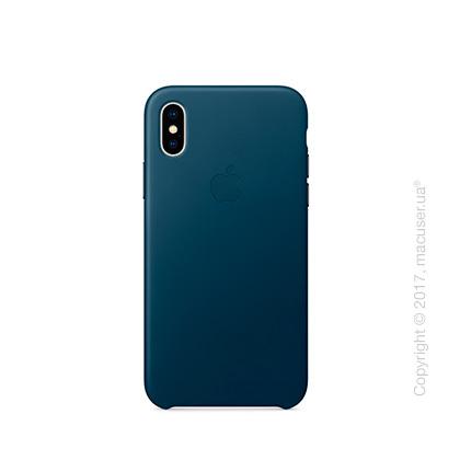 Чехол iPhone X Leather Case - Cosmos Blue