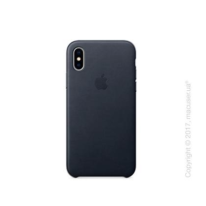 Чехол iPhone X Leather Case - Black