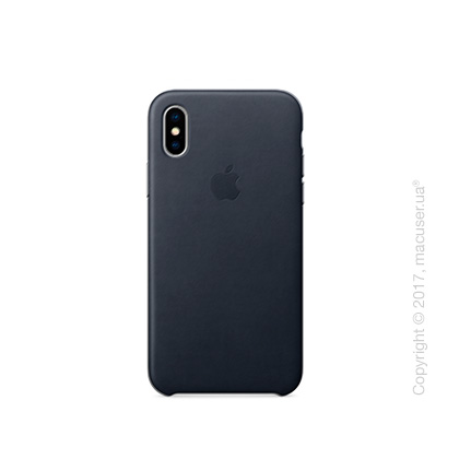 Чехол iPhone X Leather Case - Black