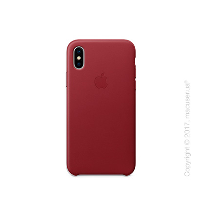 Чехол iPhone X Leather Case - (PRODUCT)RED