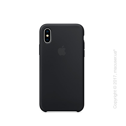 Чехол iPhone X Silicone Case - Black