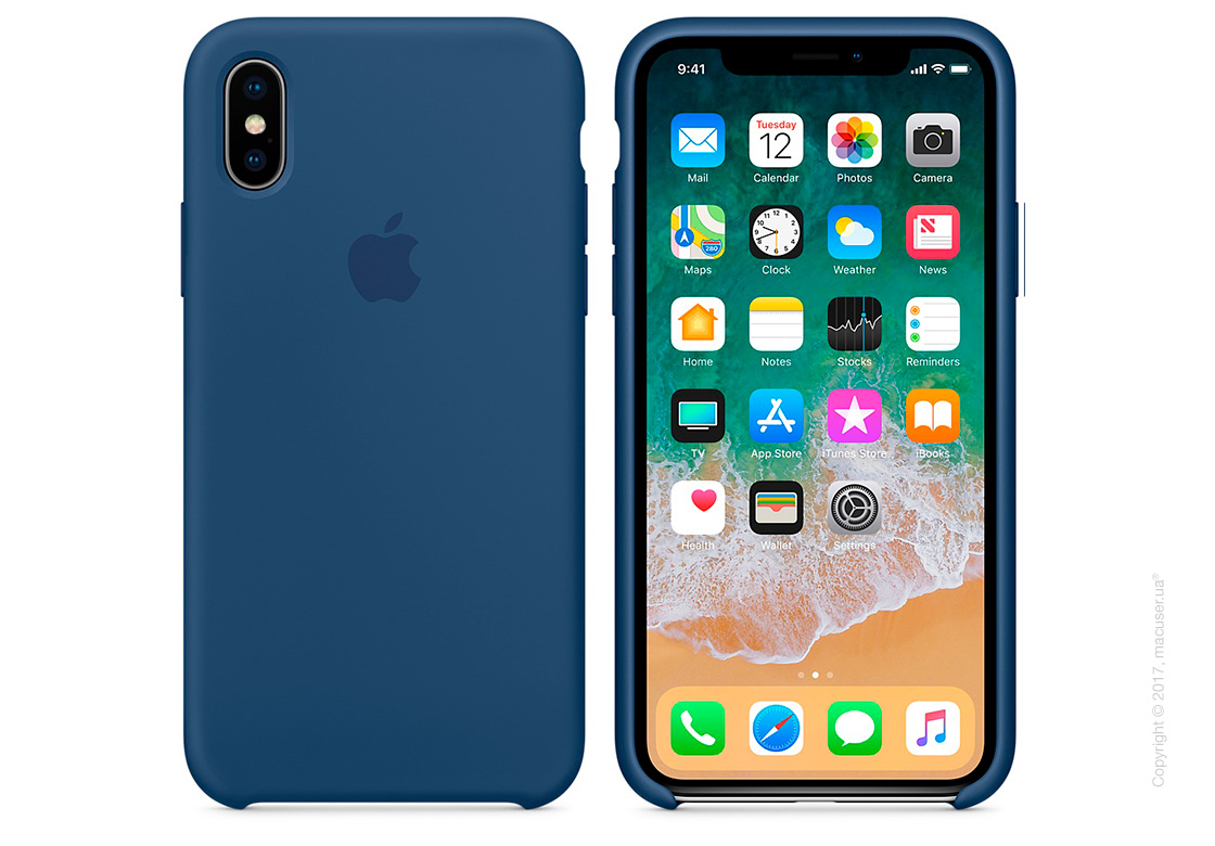 Чехол iPhone X Silicone Case - Blue Cobalt