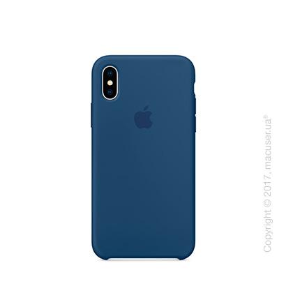 Чехол iPhone X Silicone Case - Blue Cobalt