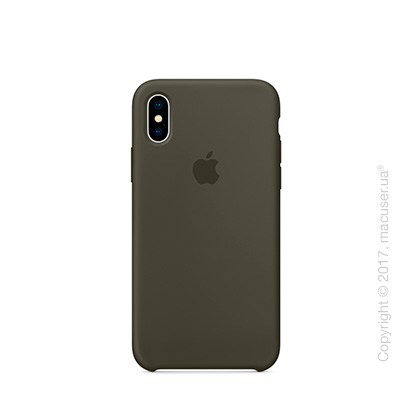 Чехол iPhone X Silicone Case - Dark Olive