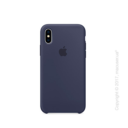 Чехол iPhone X Silicone Case - Midnight Blue