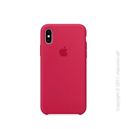 Чехол iPhone X Silicone Case - Rose Red