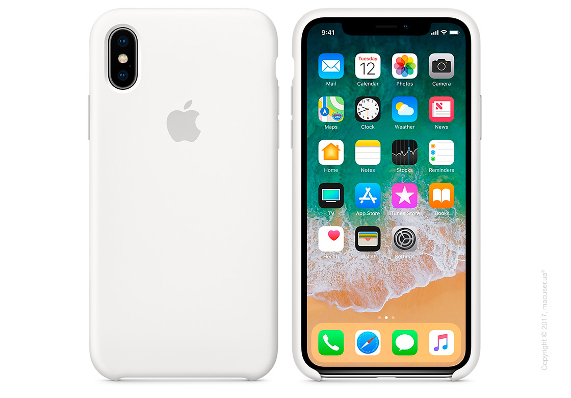 Чехол iPhone X Silicone Case - White