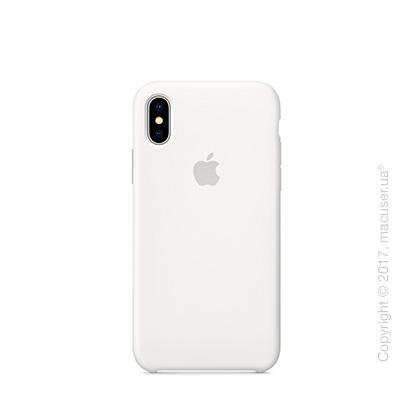 Чехол iPhone X Silicone Case - White