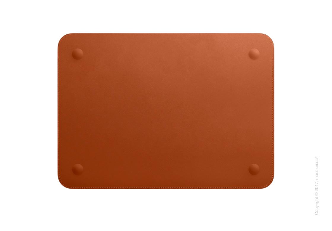 Кожаный чехол для MacBook 12 дюймов, Saddle Brown