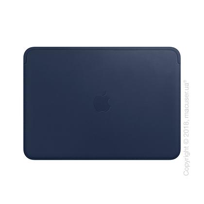 Кожаный чехол для MacBook 12 дюймов, Midnight Blue