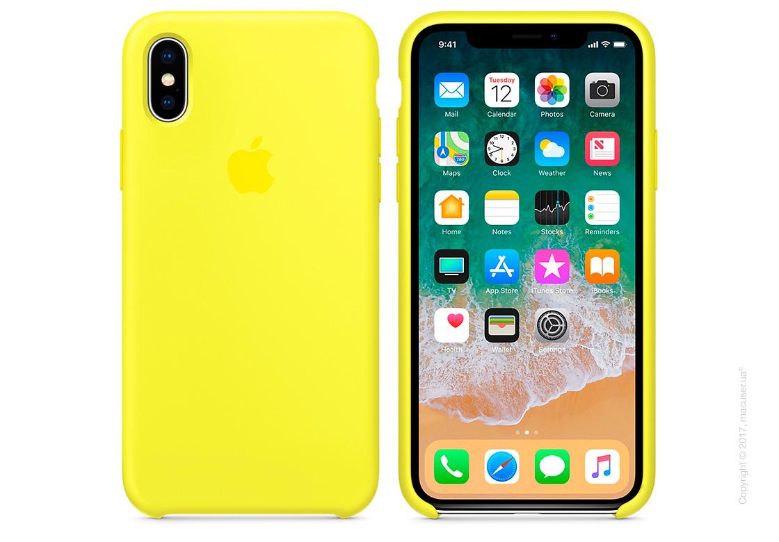 Чехол iPhone X Silicone Case - Flash