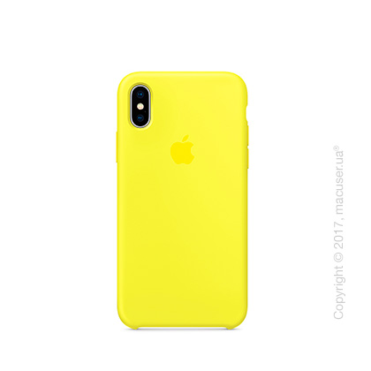 Чехол iPhone X Silicone Case - Flash