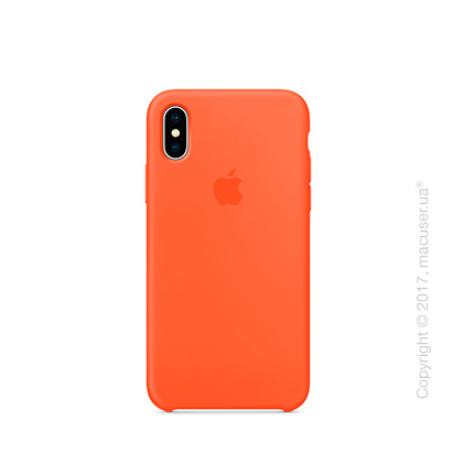Чехол iPhone X Silicone Case - Spicy Orange