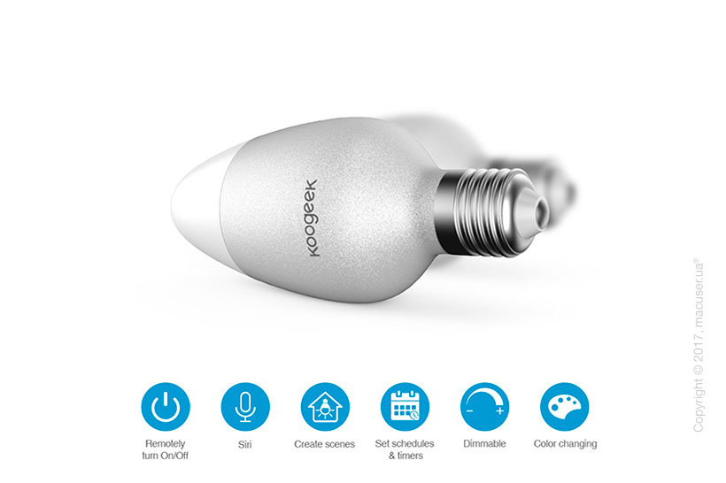 Умная лампа Koogeek WiFi Smart LED Apple HomeKit