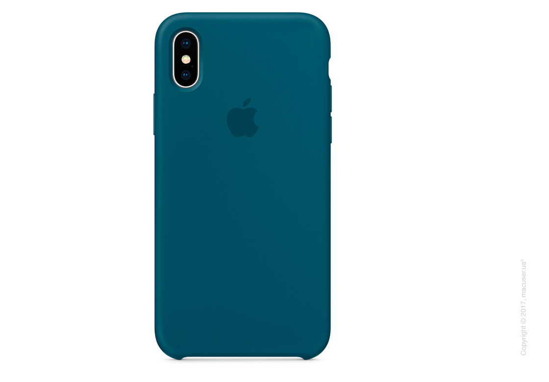 Чехол iPhone X Silicone Case - Cosmos Blue