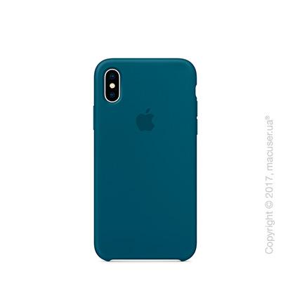 Чехол iPhone X Silicone Case - Cosmos Blue