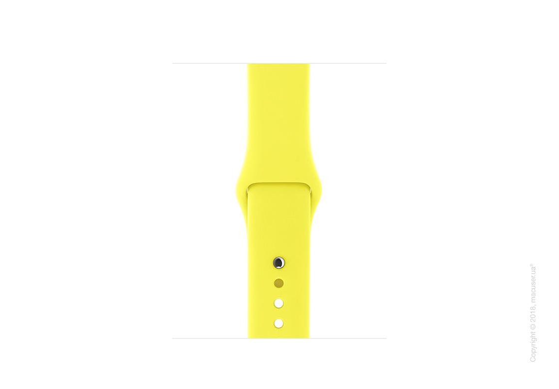 Спортивный ремешок цвета «жёлтый неон» 38 мм