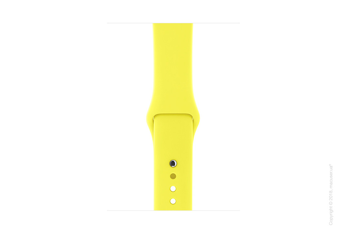 Спортивный ремешок цвета «жёлтый неон» 42 мм