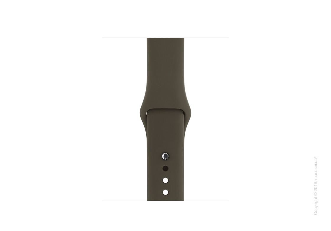 Спортивный ремешок тёмно-оливкового цвета 38 мм