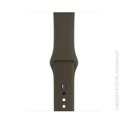 Спортивный ремешок тёмно-оливкового цвета 42 мм